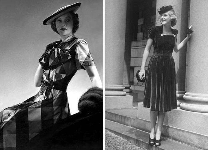 Мода 40-х годов (фото)