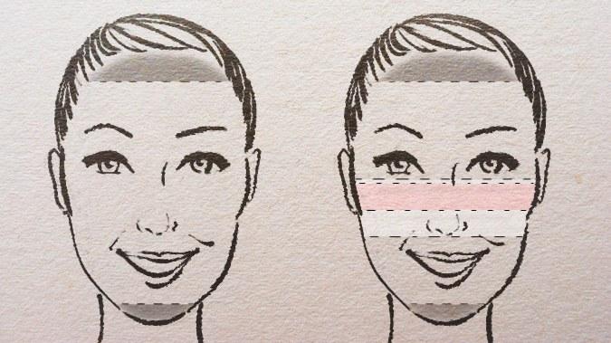 удлиненное вытянутое лицо