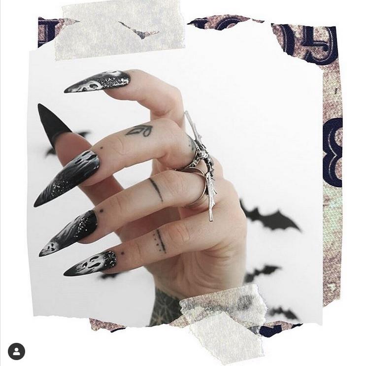 Макияж для ногтей на Хэллоуин