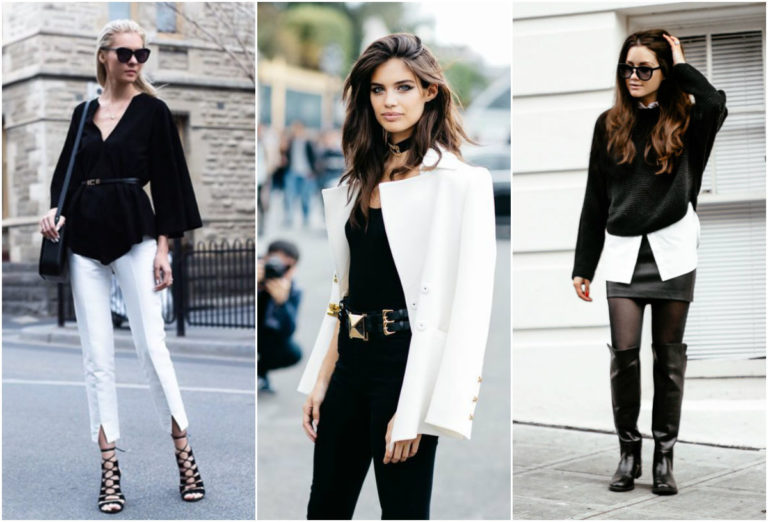 Как носить одежду в черно-белом цвете