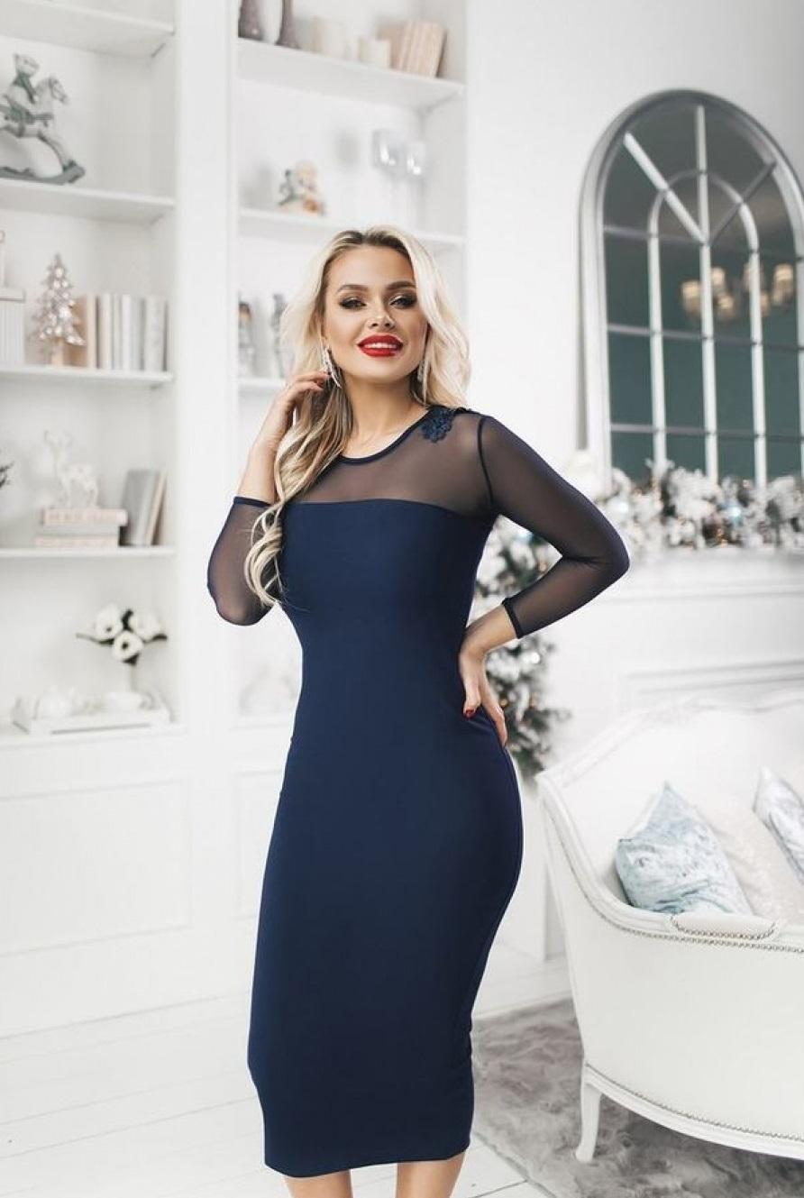 Платье миди, которое всегда в моде